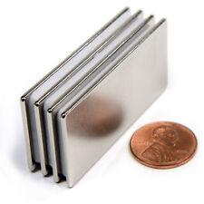 "CMS Magnetics® Strong N45 Neodymium Rectangular Magnet 2""x 1""x 1/16"" 4-pc"
