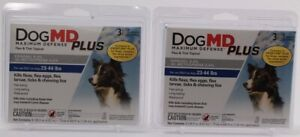 2 Dog MD Maximum Defense Plus Flea&Tick Topical Dogs 23 To 44 Lbs 3 Month Supply