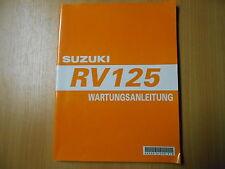 Reparaturanleitung Werkstatthandbuch Suzuki RV 125 (K3) ab Modell 2003