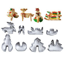 8x Christmas Cookie Cutters Metal Cookie Mold Xmas Fondant Cutter Baking ToolFO