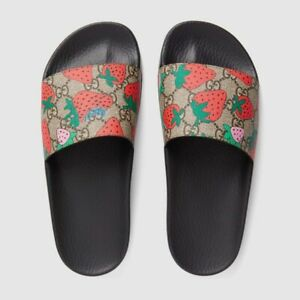 Gucci Supreme Tasty Strawberry Flip flops - size EU 37