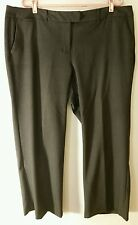 Daisy Fuentes Pant Women Size 18W Charcoal Gray Dress Flat Front 5 Pocket