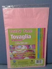 TOVAGLIA ROSA IN PLASTICA 130X180cm MAXI COORD.BUFFET Party Compleanno Battesimo