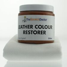 MEDIUM BROWN Leather Dye Colour Restorer for Faded and Worn Leather Sofa etc.
