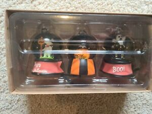 TK Maxx Halloween Hanging Snow Globes Set Of 3 Mouse, Pumpkin, Haunted House New