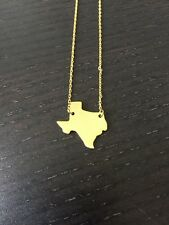 "New State Of Texas Shaped Gold Necklace, High Quality, 9"" Long"