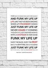 Paolo Nutini - Scream (Funk My Life Up) - Song Lyric Art Poster - A4 Size