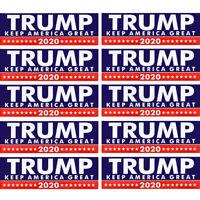 10Pcs Donald Trump Keep America Great 2020 Bumper Sticker Car Truck Window Decal