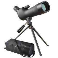 20-60x60mm Zoom Angled Spotting Scope Monocular Telescope with Tripod Soft Case