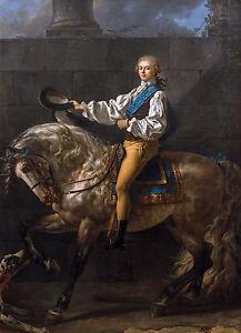 Jacques-Louis David - Equestrian Portrait of Stanisław Kostka Potocki, Canvas