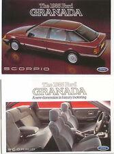 Ford Granada Scorpio x 2 Original Postcards 1985 Pub. Nos. SP 274 & 276