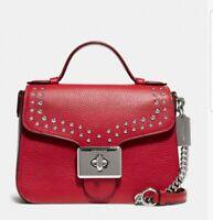 NWT Coach Cassidy Top Handle Crossbody Leather Bag
