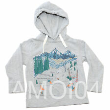 Gumboots Boys Grey Hoodie Long Sleeve Shirt Snowboard Ski Print *Size 3-4