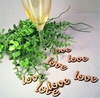 'Love' Word Wooden Table Confetti Wedding Rustic Vintage Wedding Scatter Decor