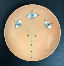 Jean Cocteau, Fleur des Yeux, original ceramic plate, hand signed and numbered