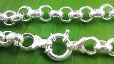 ITALY -925 sterling silver 8 mm BELCHER Bolt ring clasp 45 cm GIRL WOMEN