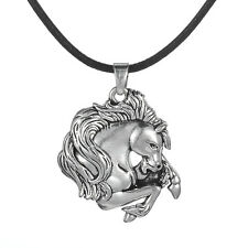 Horse Necklace Rope Chain Tibetan Silver Animal Jewelry Pewter Pendants