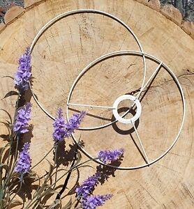 Lampshade frame ring set.White Coated metal  hoop  for macrame, chandelier