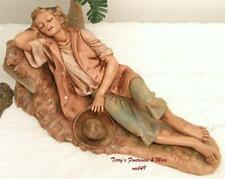 "Fontanini Depose Italy Retired 12"" Ephraim Asleep Nativity Village Figure 52959"