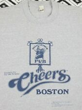 Vtg 80`s Cheers , Bull Finch Pub ,50/50 ,Gray, Boston , S/S T Shirt - Tag M