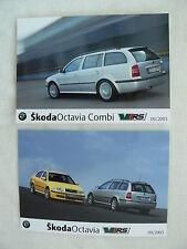 Skoda Octavia RS - Typ I Facelift - 2x Presse-Fotos press-photos 09.2003  (S0049