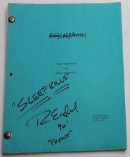 Freddy's Nightmares * TV Script Nightmare on Elm Street SIGNED by ROBERT ENGLUND