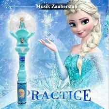 Elsa Frozen Eiskönigin Prinzessin Zauberstab Musik LED Leuchten Stab Spielzeug
