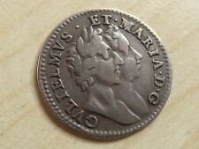 William & Mary Maundy 4 Pence Fourpence 1689 Silver Nice Grade (myrefn12003)