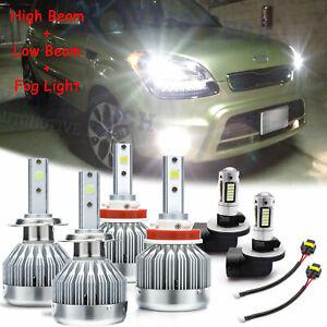 For Kia Soul 2012 2013 6000K White 6x LED High Low Headlight Fog Light Bulbs Pkg