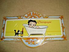plaque metal porte salle de bain Betty Boop