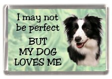 """Border Collie Dog Fridge Magnet No.1.  """"I may not be perfect ....."""" by Starprint"""