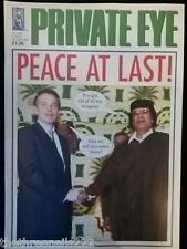 PRIVATE EYE #1103 - BLAIR & GADAFFI - APRIL 2004