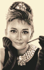 AUDREY HEPBURN complete counted cross stitch kit ~ with all materials