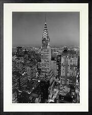 Chrysler Building, New York. Framed Photo Print (18x22). Real Wood Black Frame