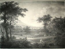PAYSAGE Lithographie original 1850 ca Galerie de Berlin C.LORRAIN