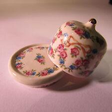 Stilton BARATTOLO CERAMICA ~ ~ Motivo Floreale ~ doll House Miniatura Scala ~ 1/12th