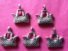 Tibetan silver handbag/sac 3d charms - 5 par paquet