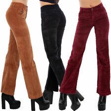 Pantaloni donna palazzo campana velluto costine basic eleganti TOOCOOL A2128