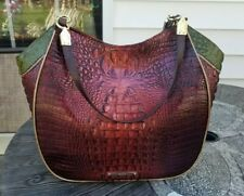 """NWOT BRAHMIN Thelma """"one of a kind"""" Melbourne Croco Tote in EMBER Leather"""