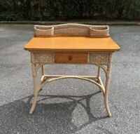 ANTIQUE WICKER LADIES WRITING DESK - 9 OF 10 CONDITION