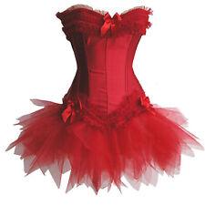 Corsage Kleid Mini Rock Petticoat Korsett rot Vakuumbeutel