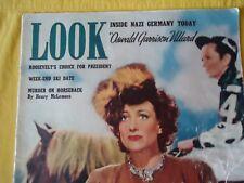 LOOK MAGAZINE MARCH 1940. JOAN CRAWFORD, MAE WEST, INSIDE NAZI GERMANY A CLASSIC
