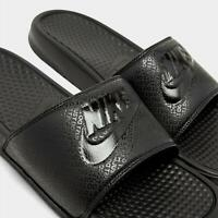 Nike Benassi JDI Slides Sandals - Triple Black Mens SIZE 10 New Flip Flops