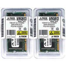 1GB KIT 2 x 512MB SODIMM DDR NON-ECC PC2700 333MHz 333 MHz DDR-1 1G Ram Memory