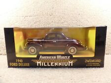 1940 ERTL  American Muscle Millennium 1:18 Diecast Scale Ford Deluxe Car
