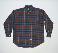 Men's Vintage Polo Ralph Lauren Plaid Flannel Cotton Shirt Size M