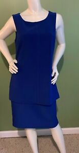 FRANK LYMAN NEW Royal Blue Sleeveless Dress Womens Size 8