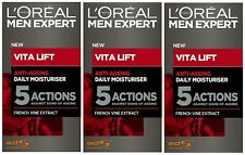 3 x 50ml LOreal Men Expert Vita Lift Anti Ageing Daily Moisturiser