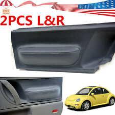 For Volkswagen Beetle 1998 2010 Gray Door Panel Insert Cards Leather Syntheticus Fits 2004 Volkswagen Beetle