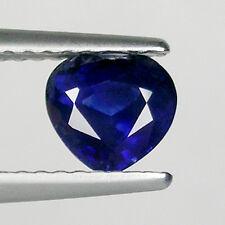 1.09 cts  SHIMMERING _ BEST DEEP BLUE  NATURAL SAPPHIRE _ HEART  _ 3320